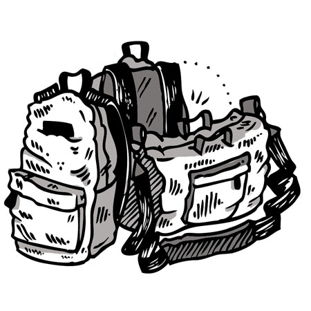 Backpacks and Bags skateboarding gear in stock, immediate shipping!