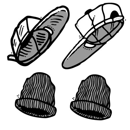Hats and Beanies skateboarding gear in stock, fast shipping!